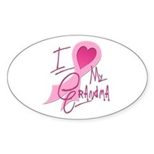 Heart/Support My Grandma Oval Decal
