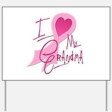 Heart/Support My Grandma Yard Sign