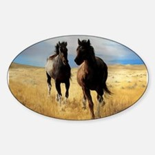 Yantis Mustangs Oval Decal