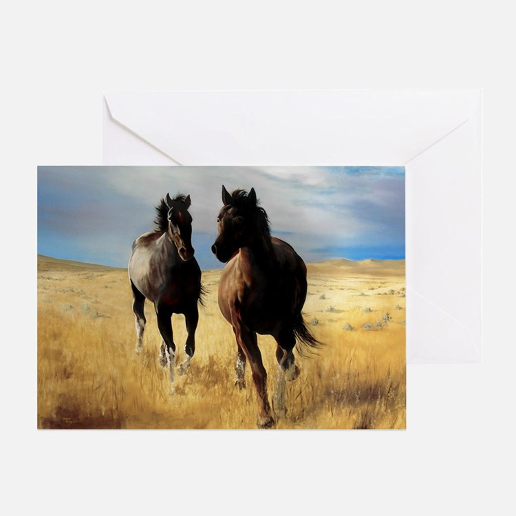 Yantis Mustangs Greeting Card