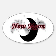 New Moon 11 20 09 Oval Decal