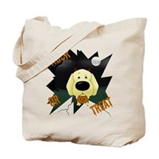 Yellow Lab Devil Halloween Tote Bag
