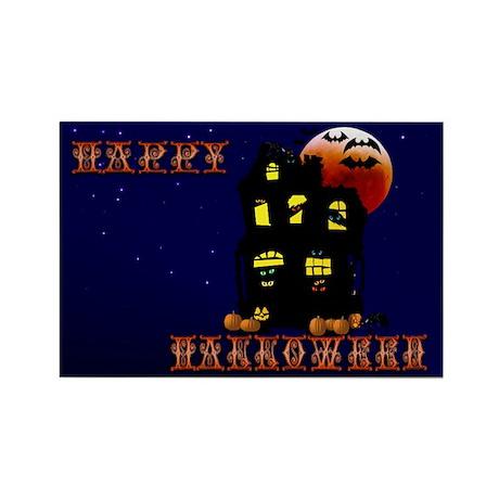 Halloween Mansion Rectangle Magnet