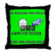 COP WATCH Throw Pillow