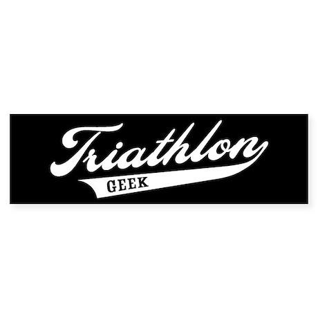 Triathlon Geek Bumper Sticker