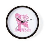Breast Cancer Awareness Wall Clock
