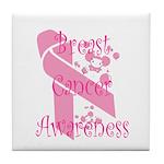 Breast Cancer Awareness Tile Coaster