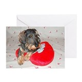 Dachshund valentine Greeting Cards