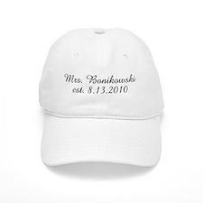 Mrs. Bonikowski est. 8.13.2010 Baseball Cap