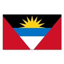 Antigua & Barbuda Flag Rectangle Decal