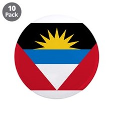"Antigua & Barbuda Flag 3.5"" Button (10 pack)"