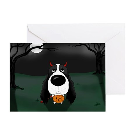 Springer Devil Halloween Greeting Card