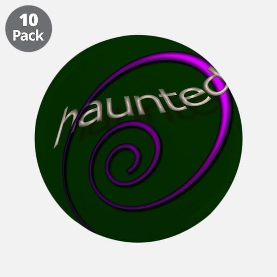 "Haunted Halloween Verde 3.5"" Button (10 pack)"