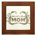 World's Best Mom Framed Tile
