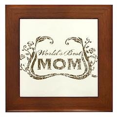 World's Best Mom Framed Tile