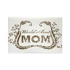 World's Best Mom Rectangle Magnet