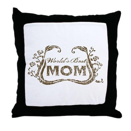 World's Best Mom Throw Pillow