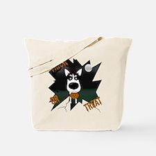 Husky Devil Halloween Tote Bag