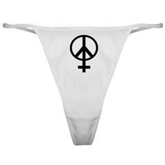 Pro-Woman Female Symbol Peace Sign Classic Thong