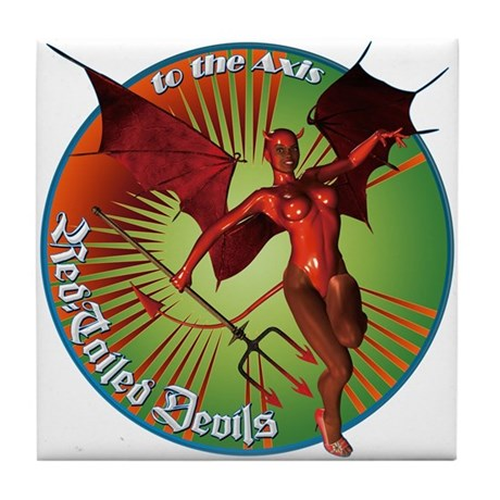 Red Tailed Devils Tile Coaster