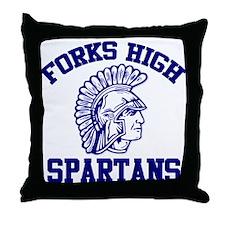Forks High Spartans Throw Pillow