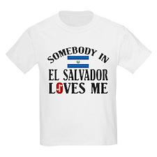 Somebody In El Salvador Kids T-Shirt