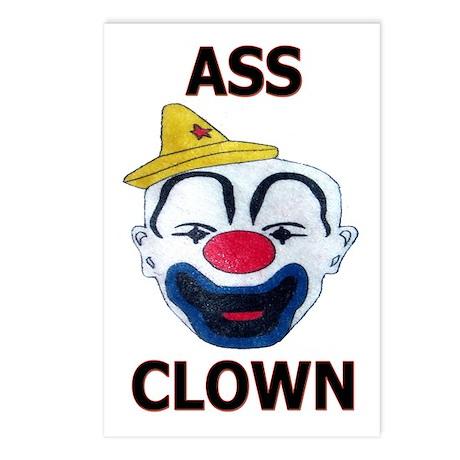Ass Clown Postcards (Package of 8)