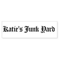 Katie's Junk Yard Bumper Bumper Sticker