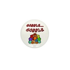 Cool Gobble gobble day Mini Button (10 pack)