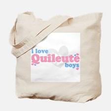 I Love Quileute Boys Tote Bag