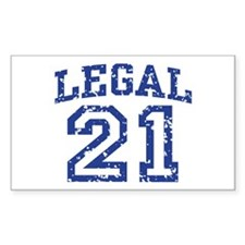 Legal 21 Rectangle Decal