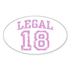 Legal 18 Oval Decal