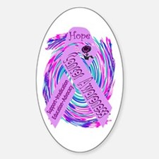 Cancer Awareness and Support Oval Decal