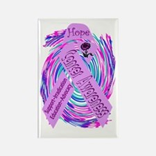 Cancer Awareness and Support Rectangle Magnet (10
