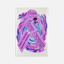 Cancer Awareness and Support Rectangle Magnet