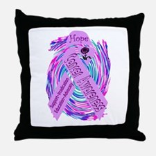 Cancer Awareness and Support Throw Pillow