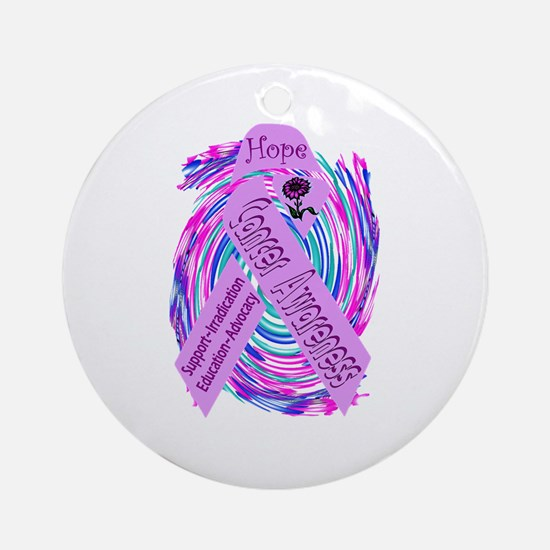 Cancer Awareness and Support Ornament (Round)