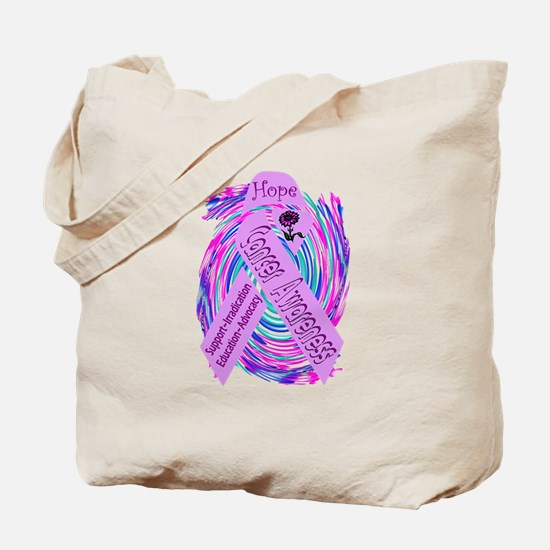 Cancer Awareness and Support Tote Bag