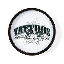 Tattoo Wall Clock