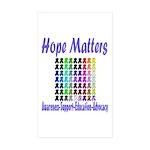 Hope Matters Rectangle Sticker 50 pk)