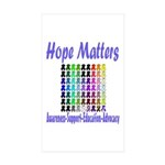 Hope Matters Rectangle Sticker 10 pk)