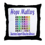 Hope Matters Throw Pillow