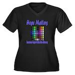 Hope Matters Women's Plus Size V-Neck Dark T-Shirt