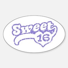 Sweet 16 Oval Decal
