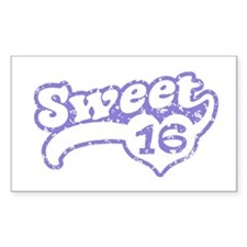 Sweet 16 Rectangle Decal