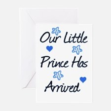 Our Prince Has Arrived Greeting Cards (Pk of 20)