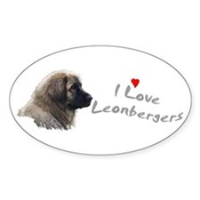 I love Leonbergers Oval Decal