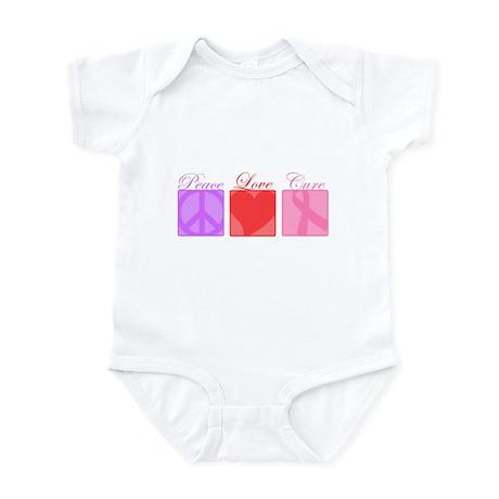 Peace, Love, Cure Infant Bodysuit
