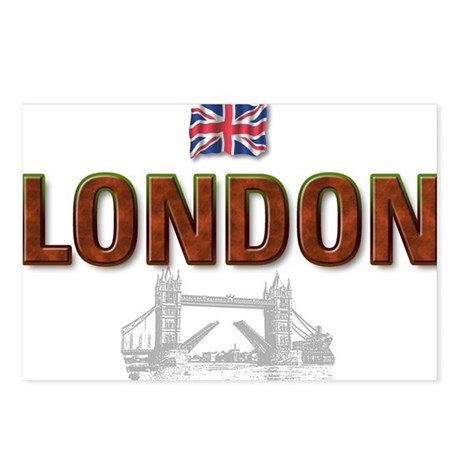 London with Tower Bridge Desi Postcards (Package o