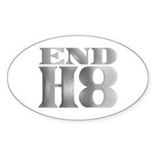 End H8 Oval Decal
